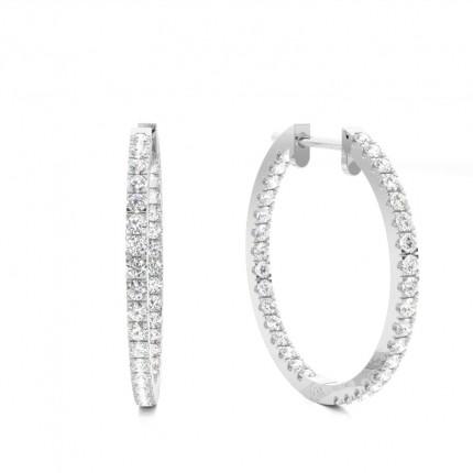 Keine Verkaufssteuer niedriger Preis überlegene Materialien Runde Diamant Creolen in einer Illusion