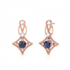 Princess Rose Gold Gemstone Earrings