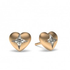 Flush Setting Diamond Earrings