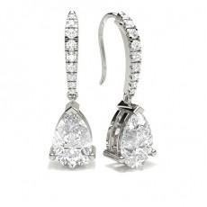 3 Prong Setting Designer Earrings