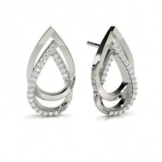 Prong Setting Round Diamond Designer Earrings