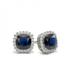 Cushion Diamond Earrings