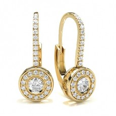 Yellow Gold Cluster Earrings