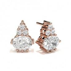 Oval Rose Gold Designer Earrings