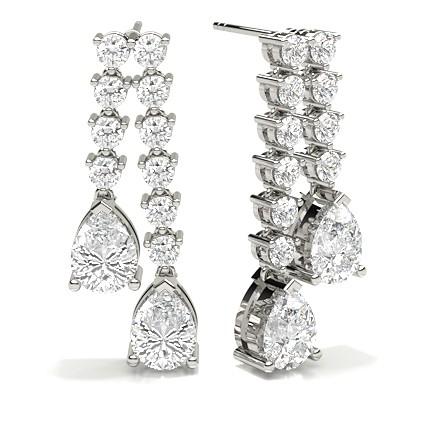 Prong Setting Designer Earrings