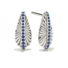 Pave Setting Blue Sapphire Designer Earrings