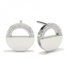 Pave Setting Diamond Designer Earrings