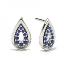 Boucles d'oreilles de créateur saphir bleu