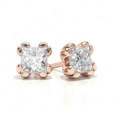 Princess Rose Gold Designer Earrings