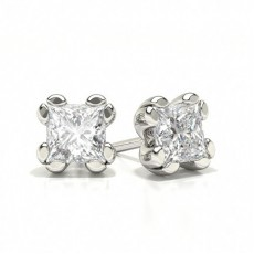 Princess White Gold Designer Earrings