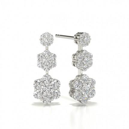 Diamond Journey Style Stud Earring