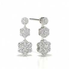 Pear White Gold Journey Diamond Earrings