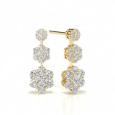 Pear Yellow Gold Journey Earrings