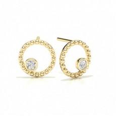 Yellow Gold Designer Diamond Earrings