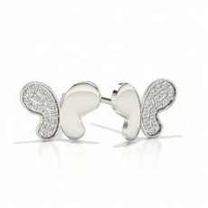 Designer Stud Diamond Earrings