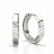 Prong Set Diamond Hoop Earring