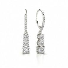 Round Diamond 4 Prong stud Earrings