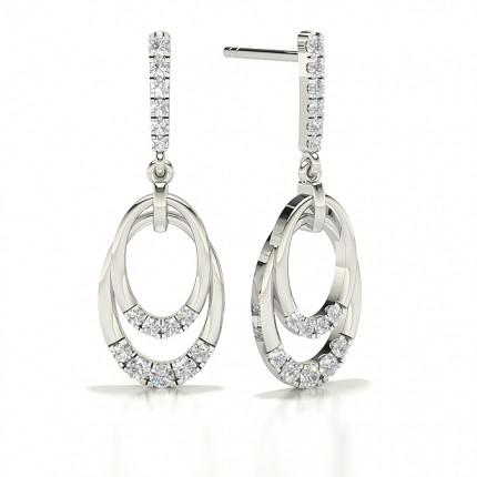 Round Stud Diamond Designer Earrings