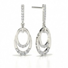 Round Stud Diamond Designer Earrings