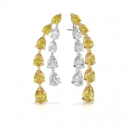 Yellow Diamond Designer Earring