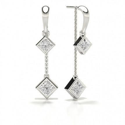 Princess Designer Diamond Earrings
