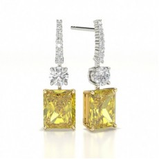 Yellow Diamond Drop Earring