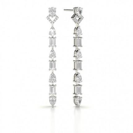 Pear Designer Diamond Earrings