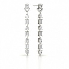 Pear Designer Diamond Earrings