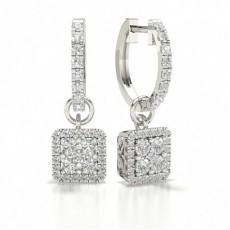 Halo Cluster Diamond Stud Earrings