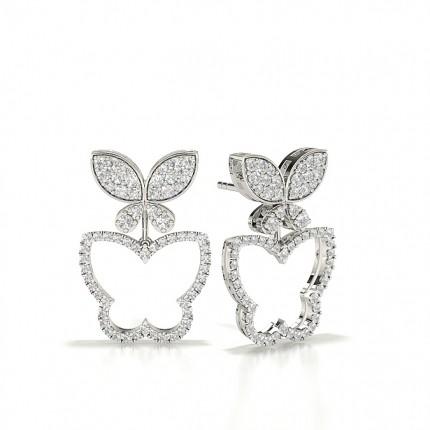 Round Stud Designer Diamond Earrings