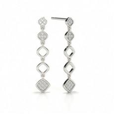 White Gold Drop Earrings