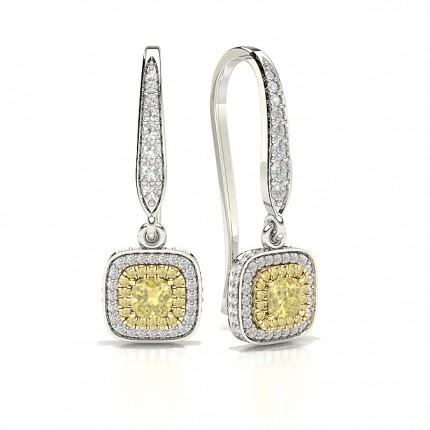 Yellow Diamond Designer hoop Earring