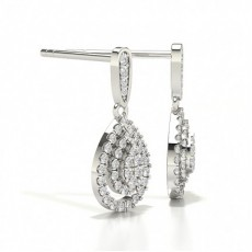 Round Cluster Designer Diamond Earrings