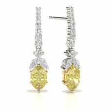 Yellow Diamond Drop Designer Earring