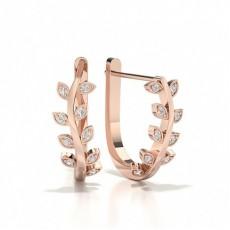 Round Rose Gold Hoop Earrings