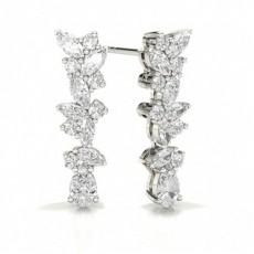 Marquise Platinum Designer Diamond Earrings