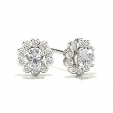 Round Halo Earring
