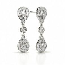 Round Silver Journey Earrings