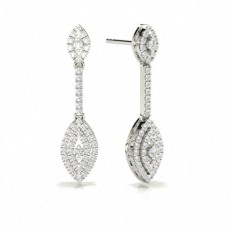 White Gold Drop Earrings