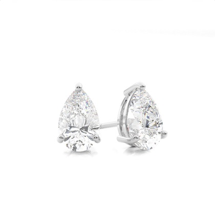 Pear Diamond Earrings