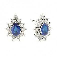 Pear Sapphire Earrings