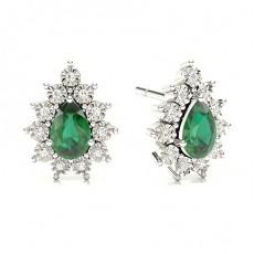Pear Emerald Earrings
