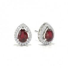 Pear Ruby Earrings
