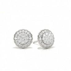 White Gold Diamond Earrings