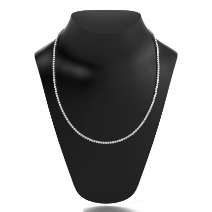 Full Bezel Setting Round Diamond Tennis Necklace