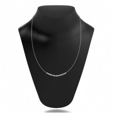 4 Prong Setting Round Diamond Necklace