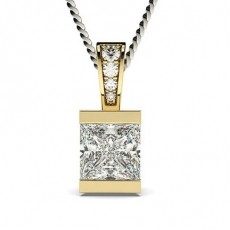 Yellow Gold Solitaire Pendant