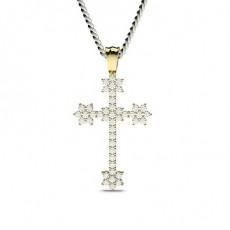 Yellow Gold Cross Pendants