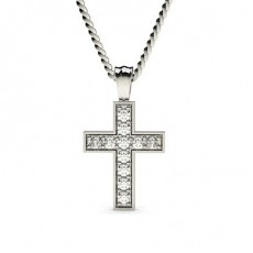 Pave Setting Cross Pendant
