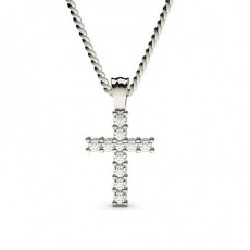2 Prong Setting Cross Pendant